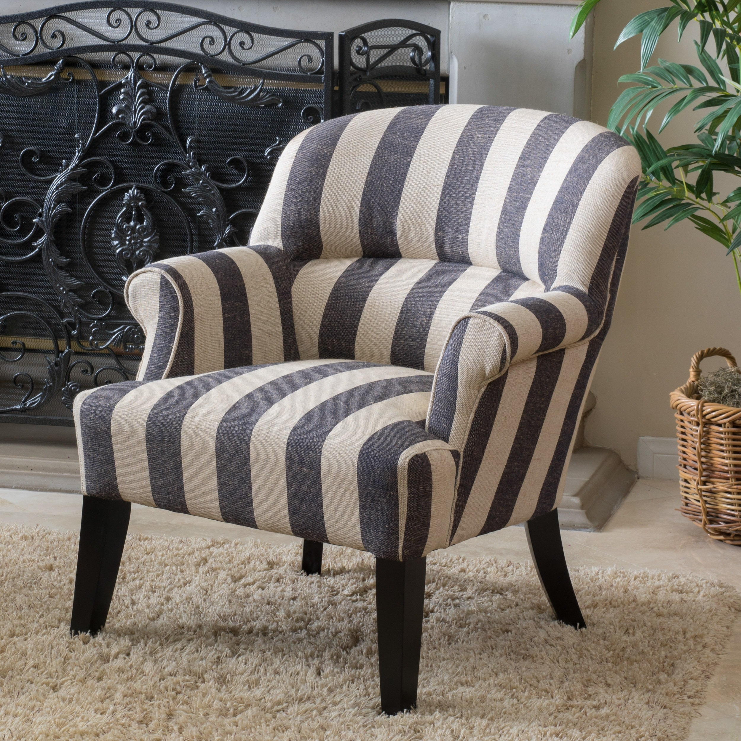 Christopher Knight Home Amelie Stripe Fabric Club Chair by by Overstock