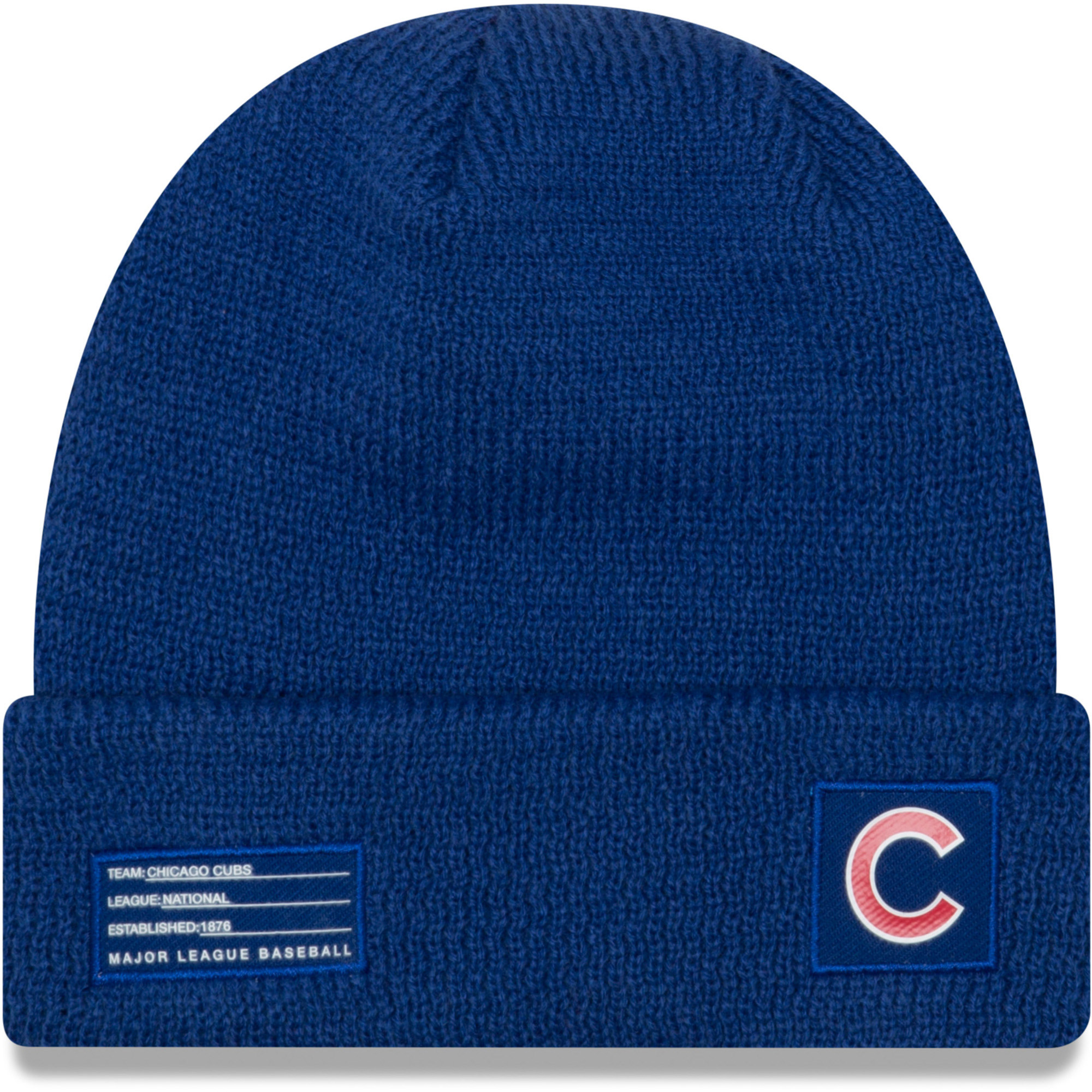 Chicago Cubs New Era On-Field Sport Cuffed Knit Hat - Royal - OSFA
