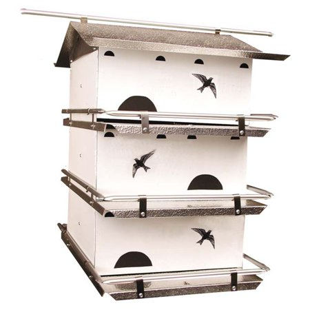 Birds Choice WatersEdge Purple Martin Bird House Aluminum Purple Martin House