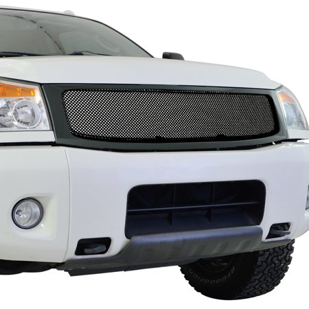EAG EAG Replacement Grille Black Stainless Steel Wire Mesh with ABS Shell for 04-07 Nissan (Shell Precision Grilles)