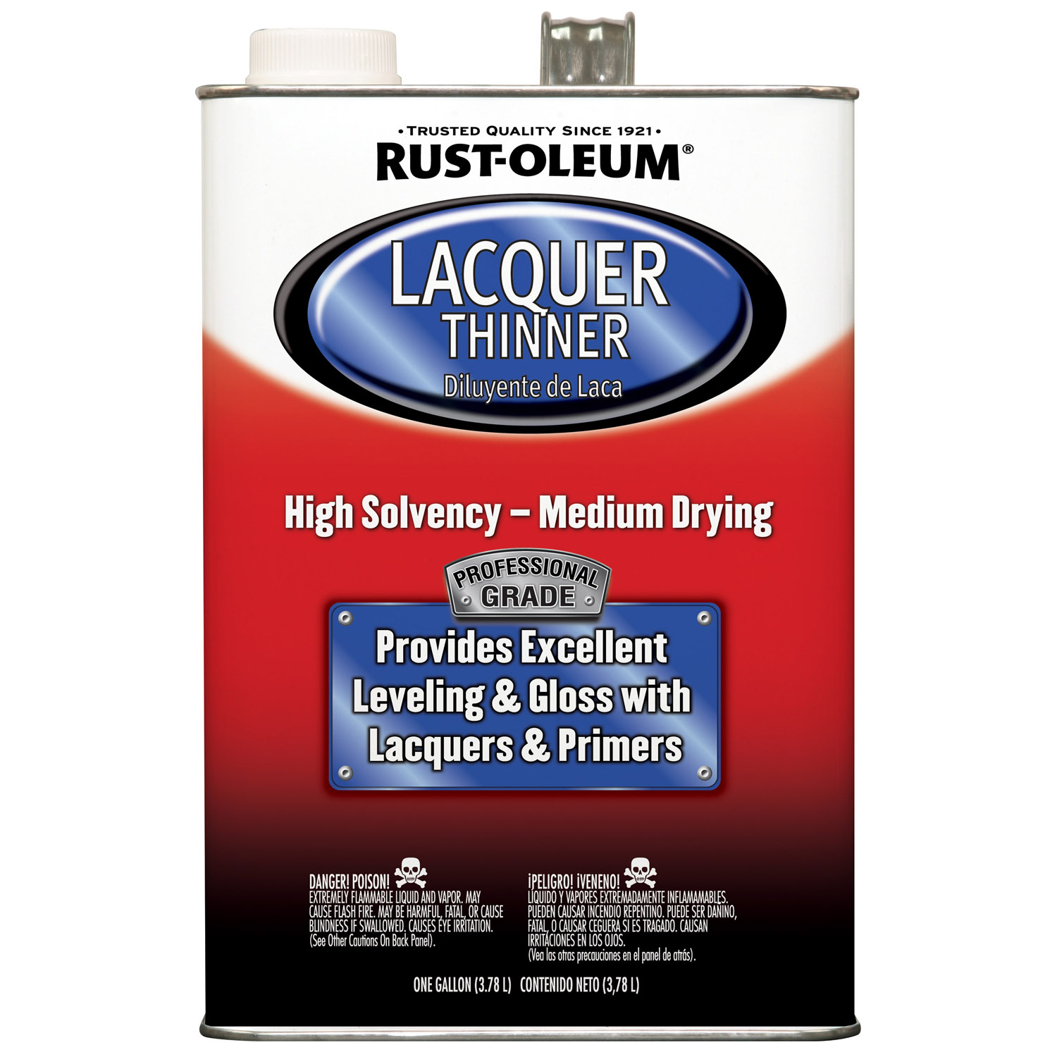 Rust-Oleum Professional Grade Lacquer Thinner, 1 Gallon