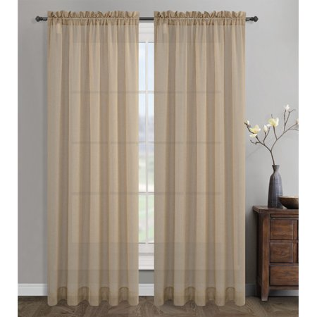 Urbanest Sahara Sheer Drapery Curtain Panel (Set of 2)
