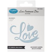 Justrite Custom Dies 2/Pkg-Love Sentiment