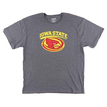 Old Varsity Mens Iowa State Cyclones College Medium Logo Dual T Shirt Grey (Varsity Tees)