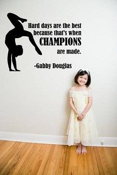 Custom Designs Gymnastic Quote Champions 18x20