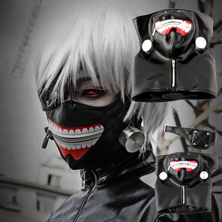Adjustable Mask - Adjustable Tokyo Ghoul Kaneki Ken Zipper Cosplay Masks PU Leather Mask