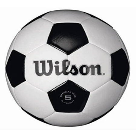 Wilson Traditional Black and White Soccer Ball ( All Sizes) (Plush Soccer Ball)