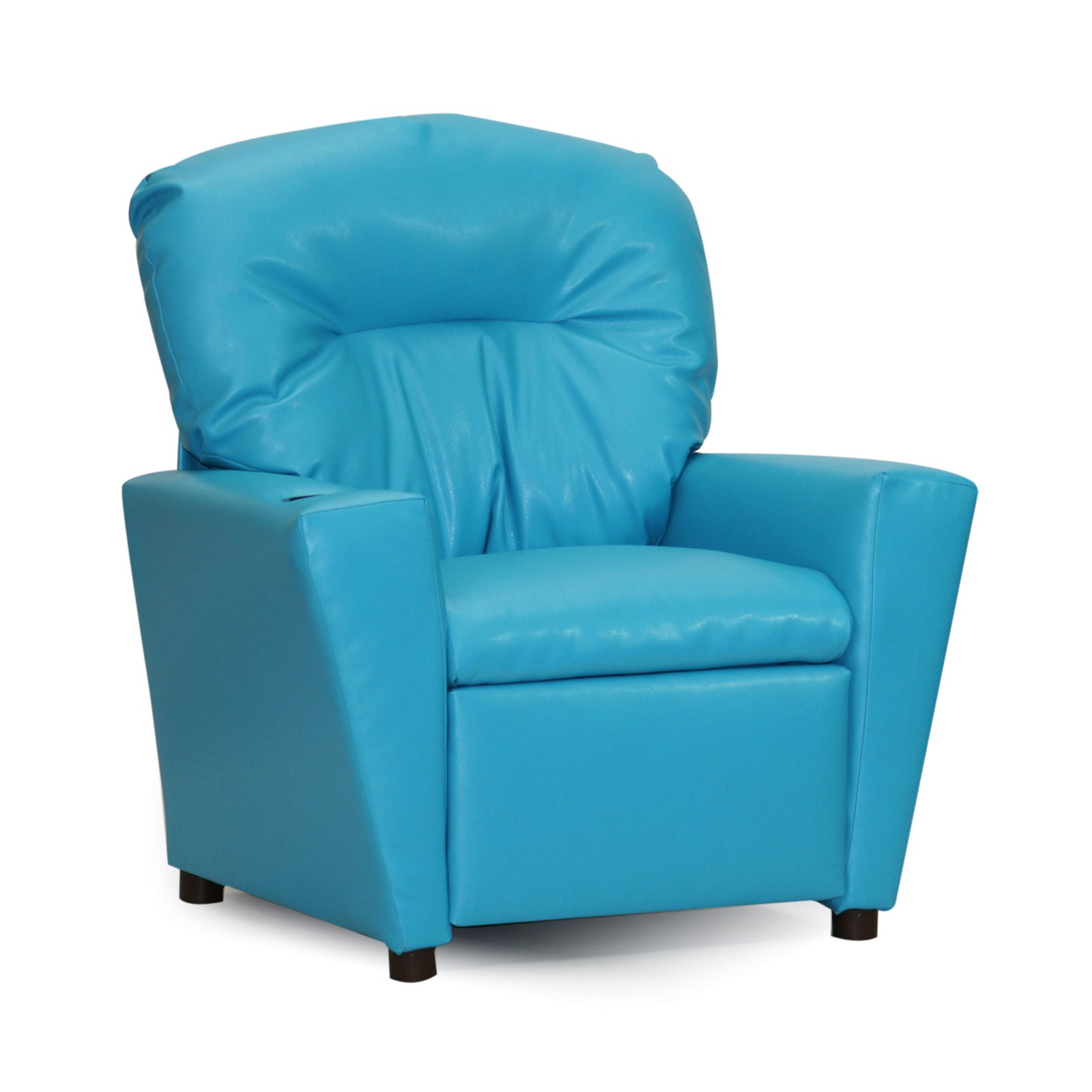 Kidz World Recliner with Cup Holder - Turquoise Vinyl