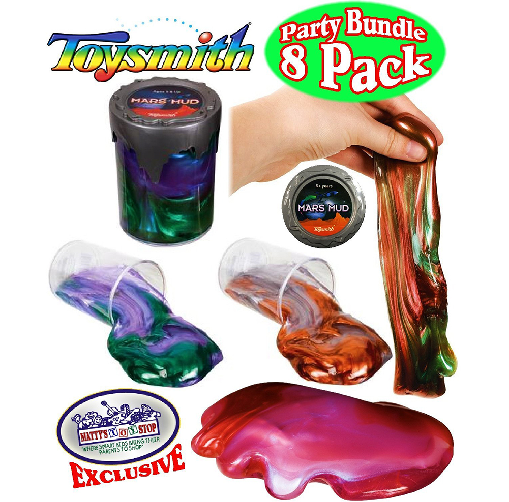 Toysmith Mars Mud Slimeputty Complete Gift Set Party Bundle 8