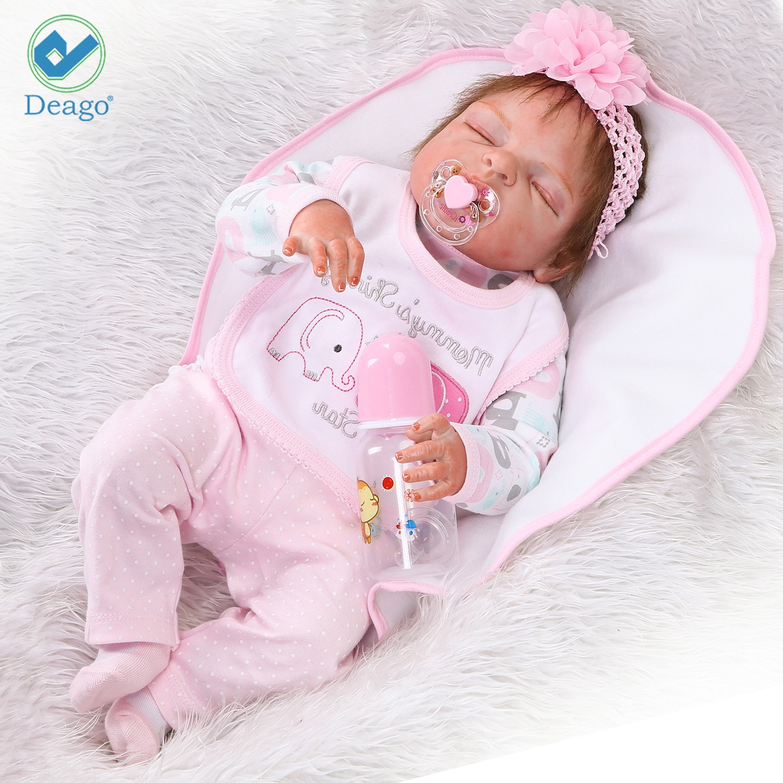 Deago Reborn Baby Dolls 22 Quot Cute Realistic Soft Silicone