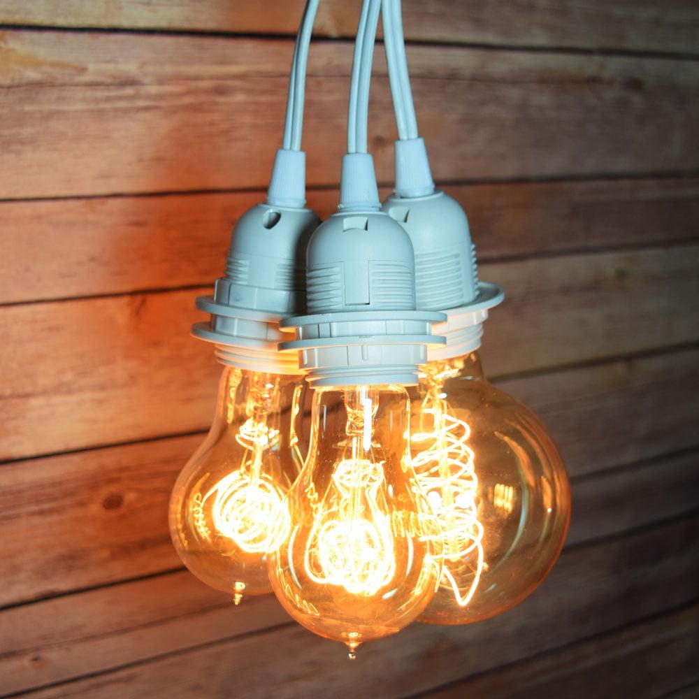 Fantado BULK CASE Triple Socket Pendant Light Cord Kits f...