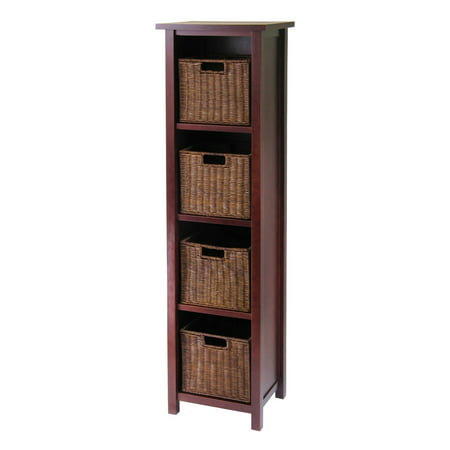 4in Marble Cabinet (Milan 5pc Storage Shelf with Baskets; Cabinet and 4 Small Baskets; 3 cartons )