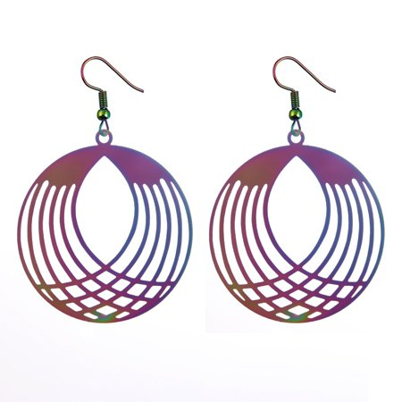 Fashion Retro Hollow Round Long Earrings Elegant Exquisite Earring Women Christmas (Exquisite Fashion)