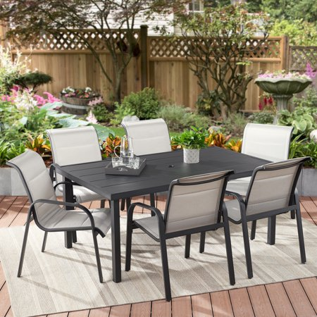 Better Homes & Gardens Montrose 7-Piece Cushioned Patio Sling Dining Set