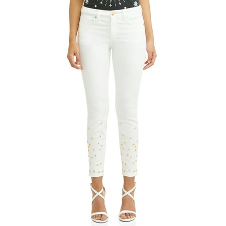 Sofía Skinny Studded Mid Rise Stretch Ankle Jean Women's