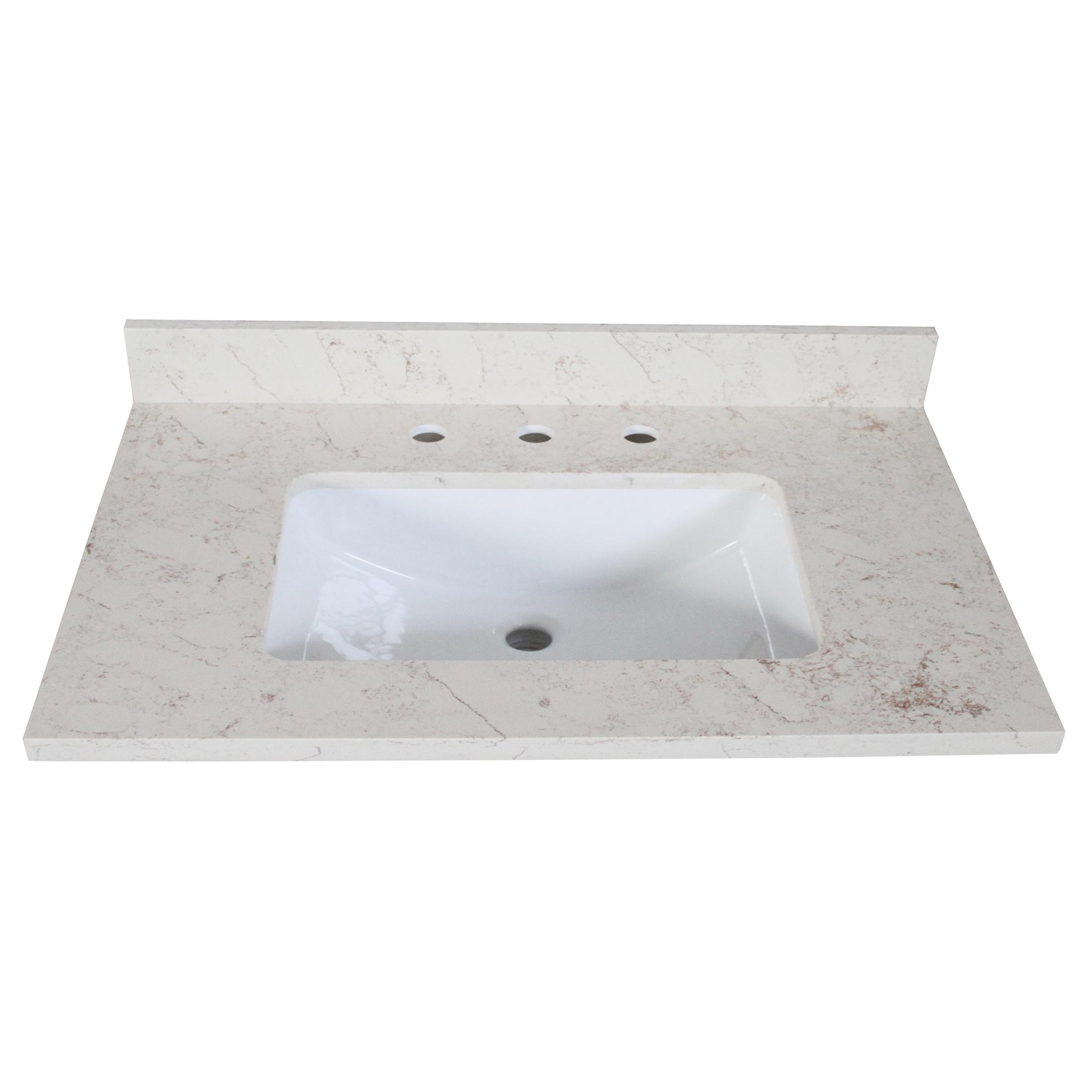 """Design House 556985 Quartz Vanity Top 25""""x22"""", Giallo"""