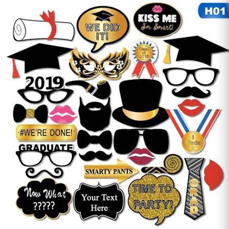 TURNTABLE LAB 2019 Happy Graduation Congrats Party Masks Mustache Photo Selfie Booth Props](Mustache Photo Props)