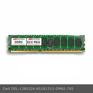 DMS Compatible/Replacement for Dell A5181511 Precision T3600 Essential 16GB DMS Certified Memory DDR3-1333 (PC3-10600) 2048x72 CL9  1.5v 240 Pin ECC Registered DIMM - DMS