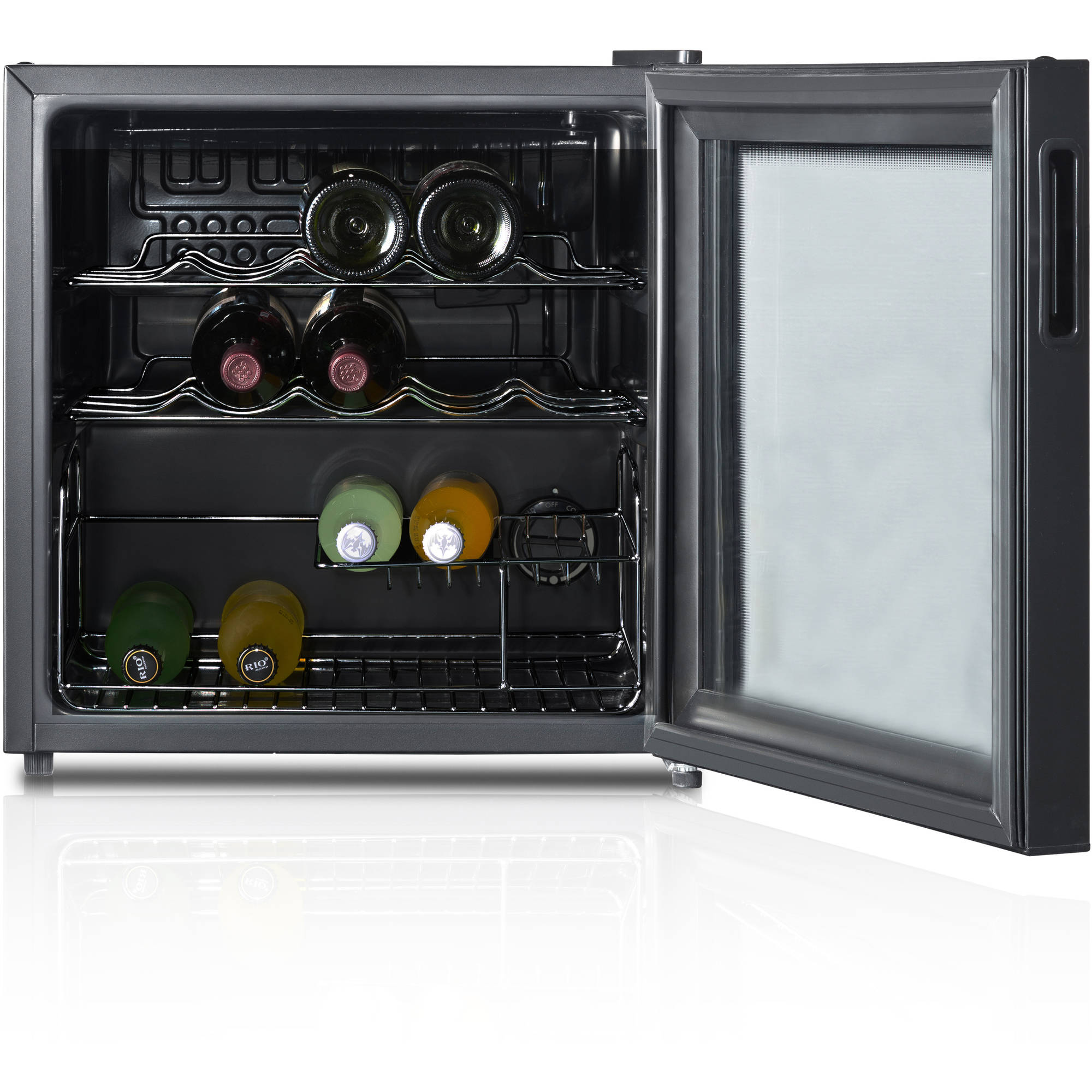 Wine Cooler 16 Bottle Refrigerator Bar Fridge Glass Door Mini Slide