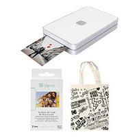 Lifeprint 2x3 Portable Photo and Video Printer (White) Starter Kit