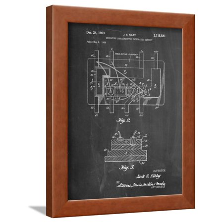 First Integrated Circuit Patent Framed Print Wall Art By Cole Borders