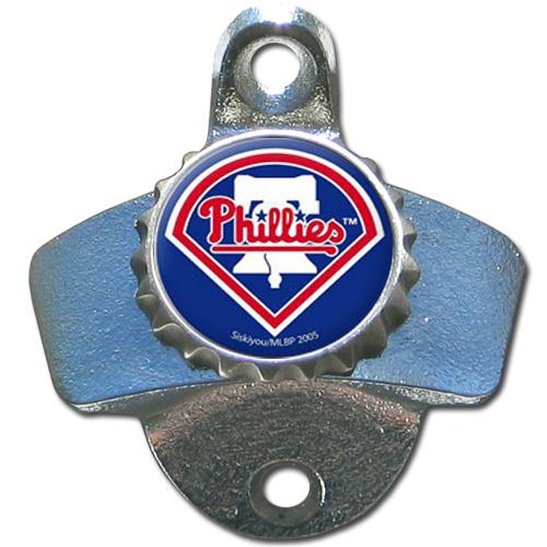 Philadelphia Phillies Official MLB Wall Mounted Bottle Opener by Siskiyou 005329