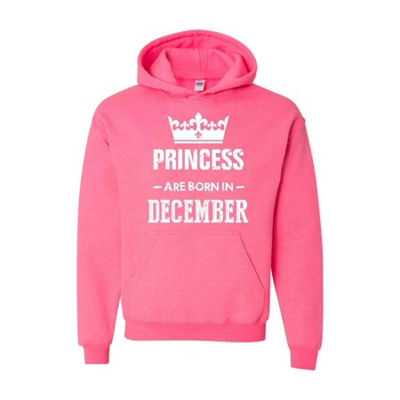 Birthday Gift Princess are Born in December Unisex Hoodie Hooded Sweatshirt