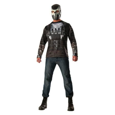 Crossbones Shirt and Mask Men Set
