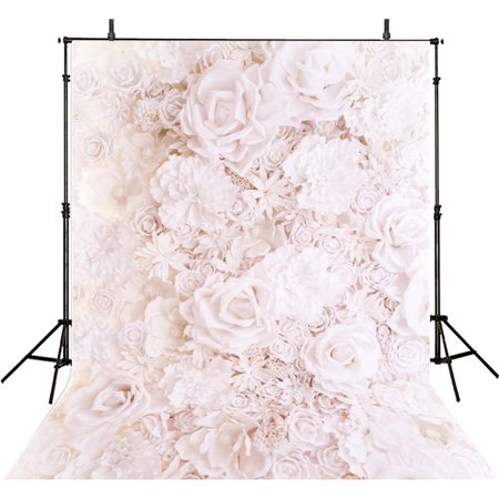 HelloDecor Polyster 5x7ft Floral Backdrop Photography Props Flower Photo Backdrops Girls Photography Backgrounds Party Photo Backgrounds