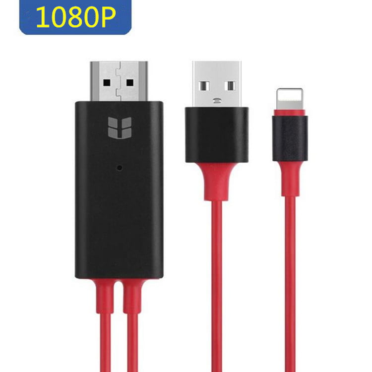 iPhone to HDMI, Bangde Upgraded 6.5ft Lightning to HDMI ...