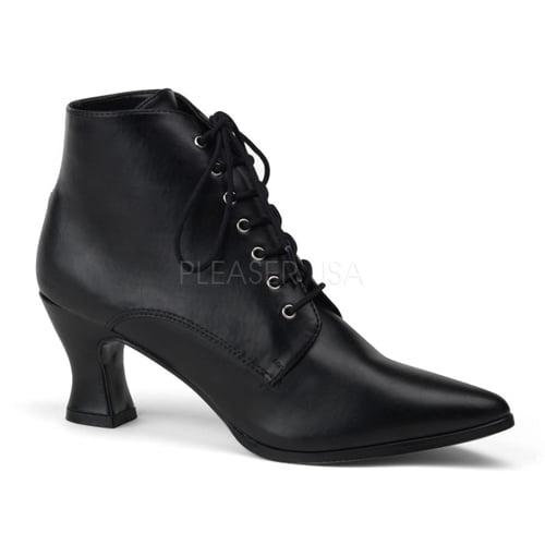 Womens Halloween Black Short Victorian Steampunk Boots size 8