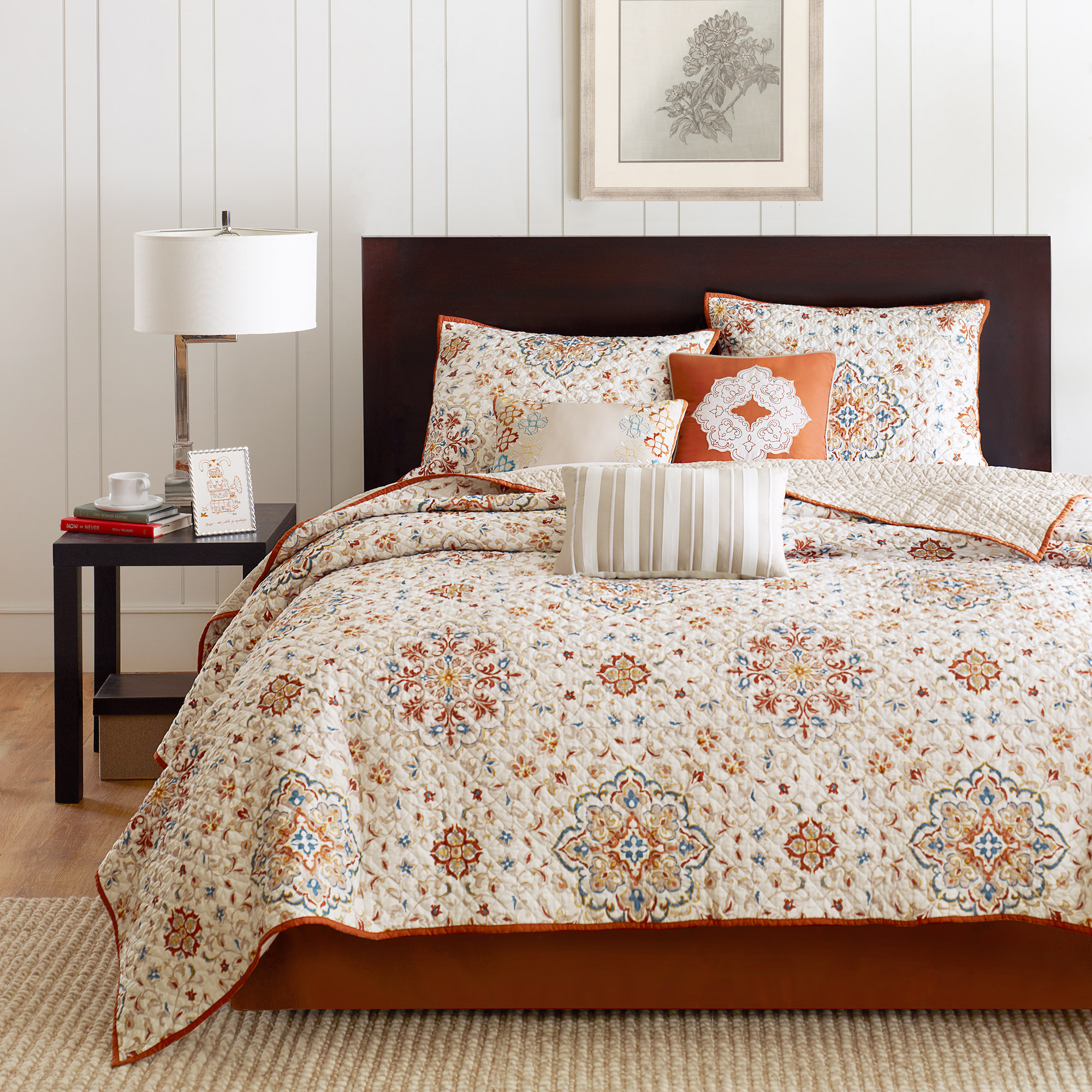 Home Essence Neda 6 Piece Quilted Coverlet Bedding Set