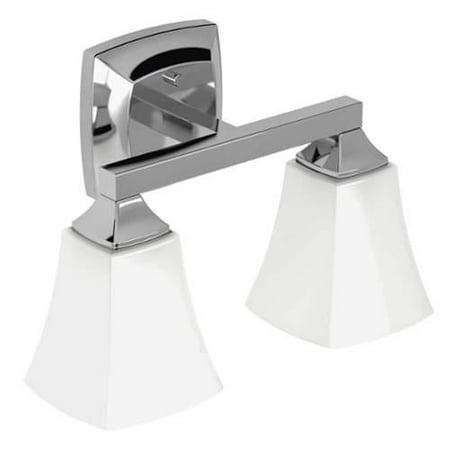 Moen Yb5162 Voss 14 Wide 2 Light Reversible Bathroom Vanity Light Fixture