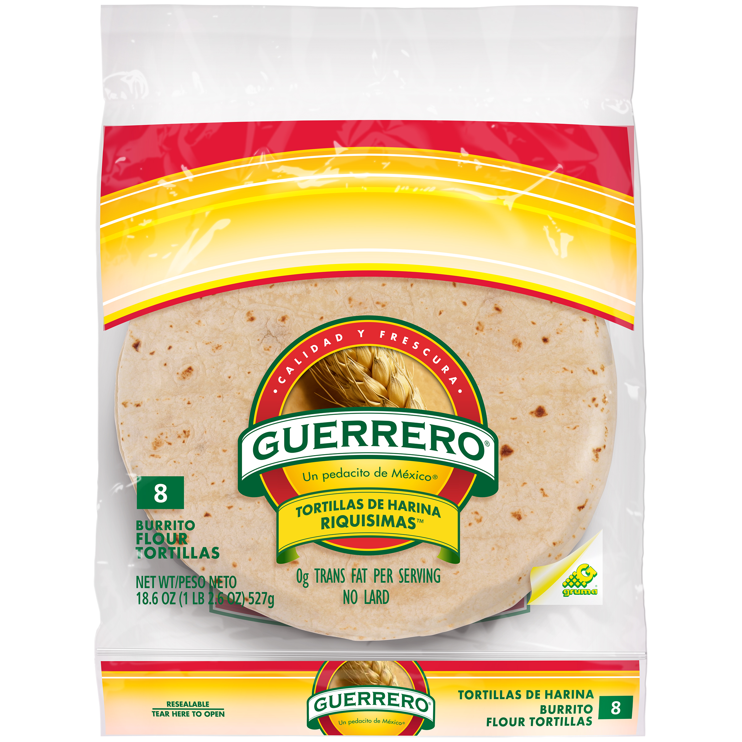 Guerrero® Burrito Four Tortillas 18.6 oz. Bag