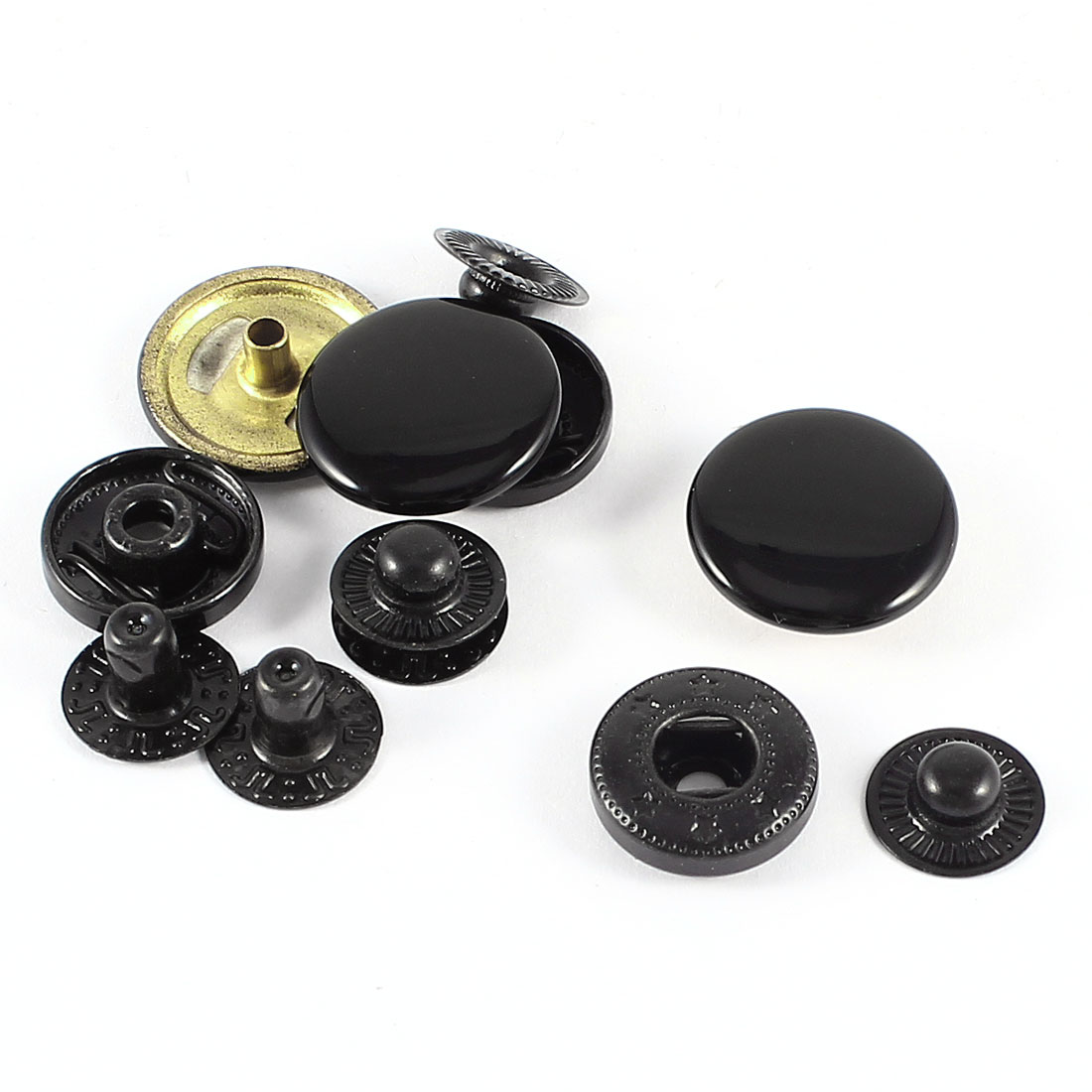 Unique Bargains 3 Sets Metal Snap Fasteners Poppers Sewing Leather 17mm Press Stud Button