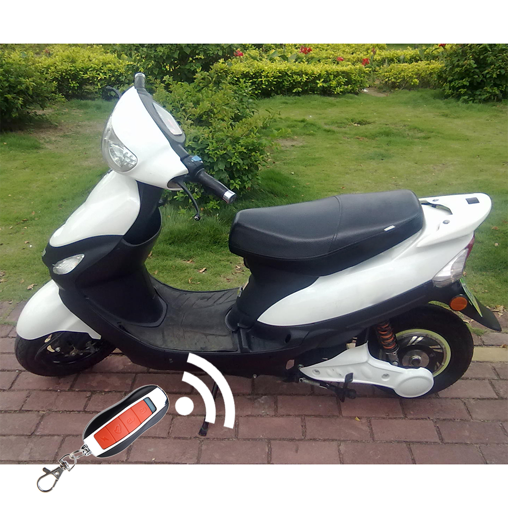 Electric Scooter Motorcycle Anti Theft Security Alarm System Remote Vip Keychain Control