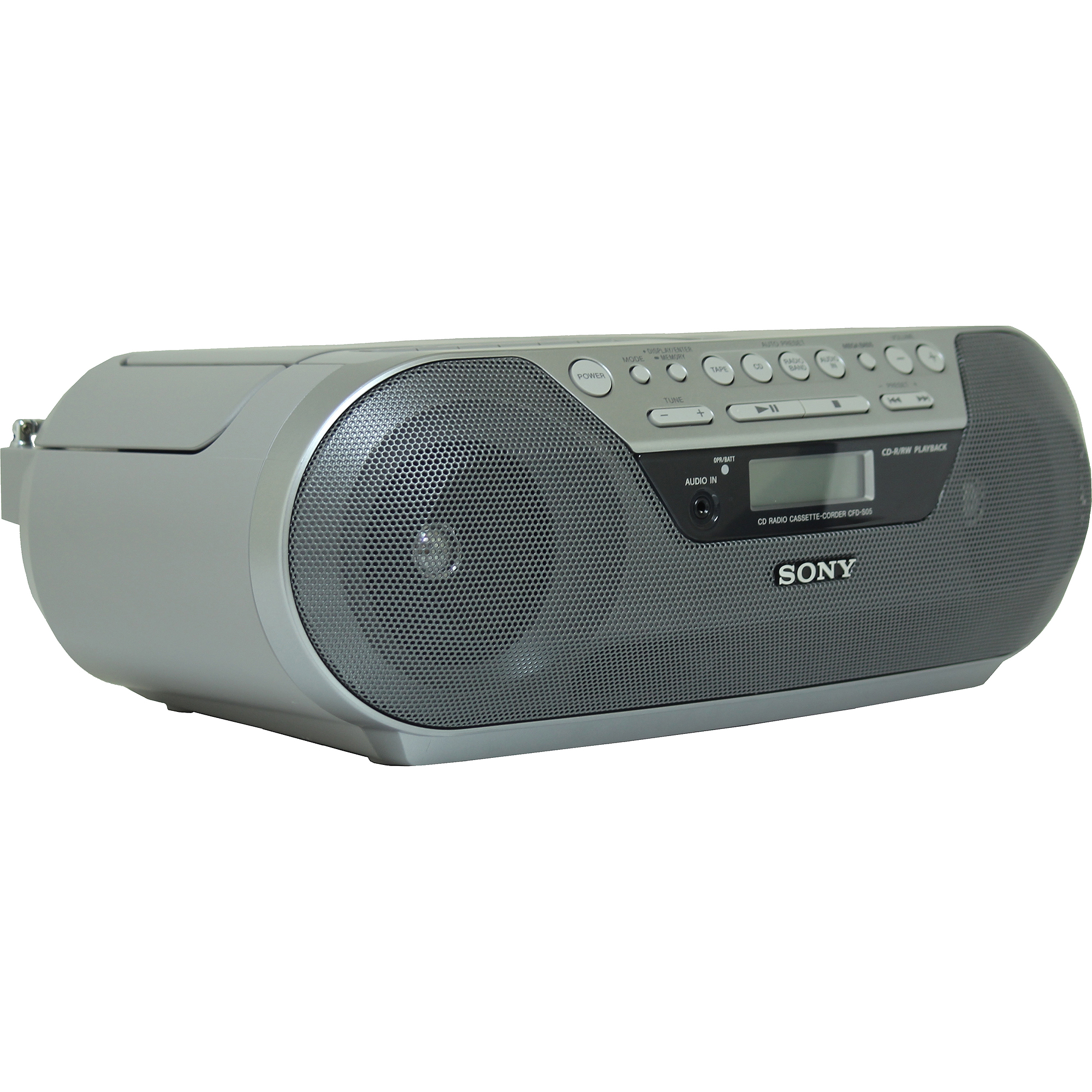 Sony CD Radio and Cassette Player, CFD-S05, Refurbished