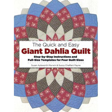 The Quick and Easy Giant Dahlia Quilt on the Sewing