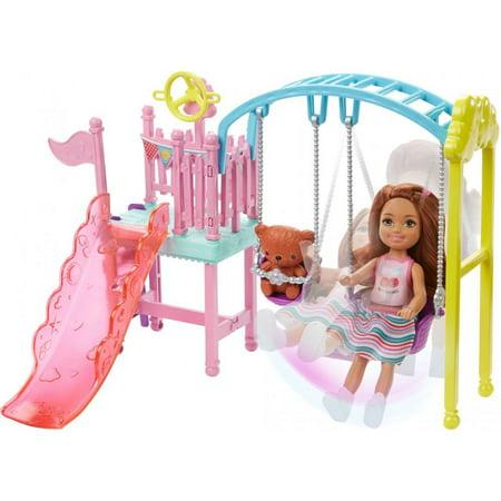 Barbie Chelsea Swingset Playset with Doll & Teddy Bear