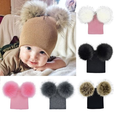 5be0ea73ba1 HiCoup - HiCoup Infant Baby Girls Boys Crochet Knitted Cute Faux Fur ...