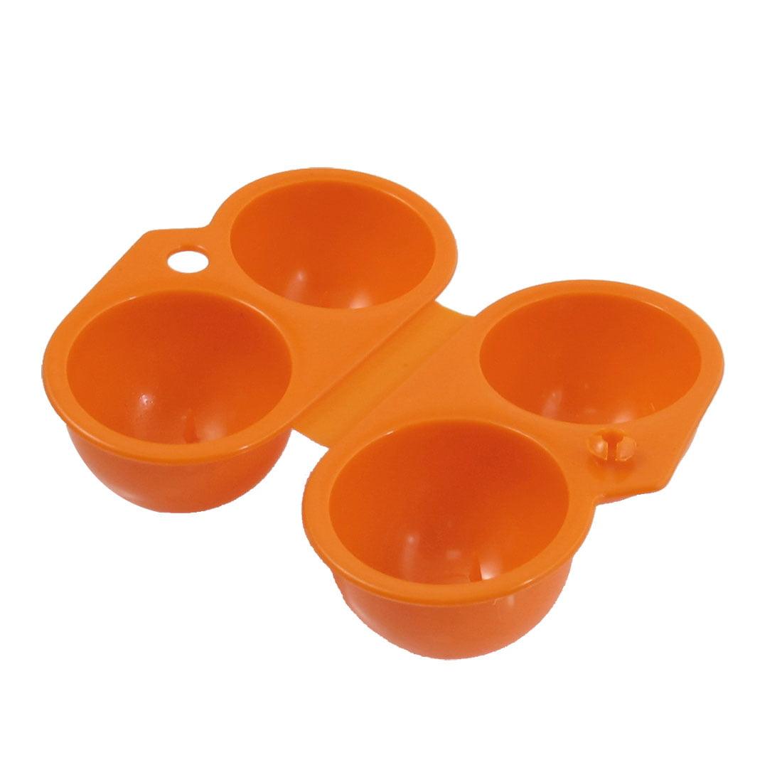 Travel Outdoor Folding Plastic 4 Egg Case Keeper Holder Carrier Orange