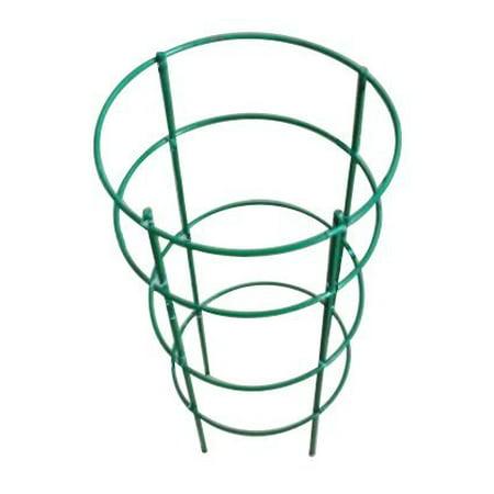 "Mr.Garden planter Plant Cage, Crab Cactus Trellis 11.8"" Dia x 19.5"" H, Green"