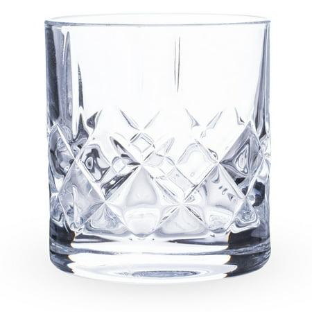 Urban Bar Ginza Cut Crystal Old Fashioned Whiskey Rocks Glasses - 10 oz - Set of 6 10 Crystal Glass