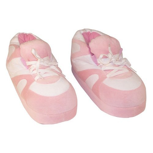 Comfy Feet Pink and White Happy Feet Slippers