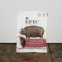 (8 Count) EPIC Hickory Smoked Uncured Bacon & Pork Jerky Bites, 2.5oz