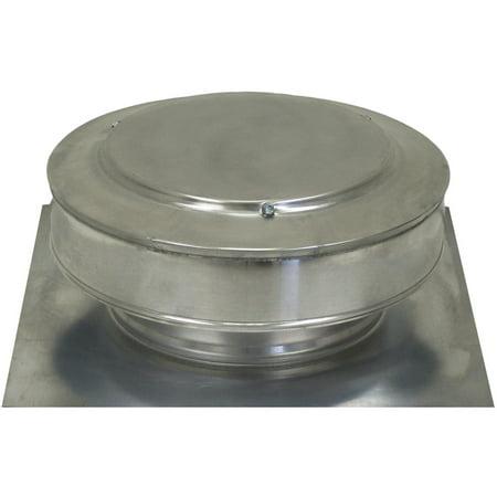 Active Ventilation, Attic Roof Ventilator, Round Back Vent, 8 in. diameter, Aluminum, Mill Finish, RBV-8