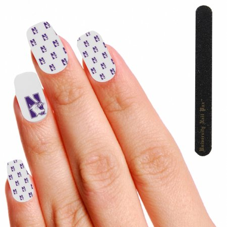 Northwestern Wildcats Women's Polka Dot Nail Wraps - White - No Size