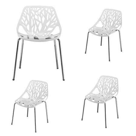 Patio Lounge Metal Wire Dining Chairs Set of 4, 21.3