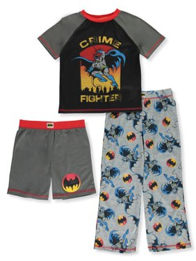 Batman Boys' Crime Fighter 3-Piece Pajama Set (Big Boys)