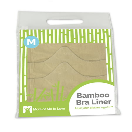 100% Pure Bamboo Cotton Bra Liner (Beige, 3-pk, M) - Wicking, antibacterial, odor-proof